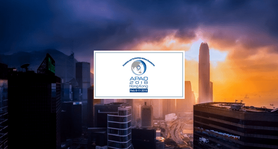 See you in Hong Kong – APAO 2018!